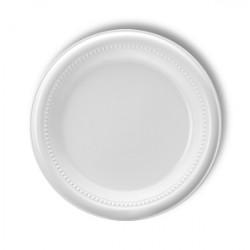 Plato Plástico Blanco Tami